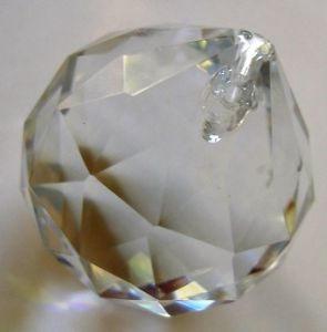 Crystal Clear Centre Ball - 40mm - Ref: WB40